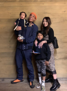 Anderson Paak with his family