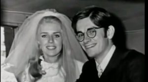 Betty with her husband during her wedding day