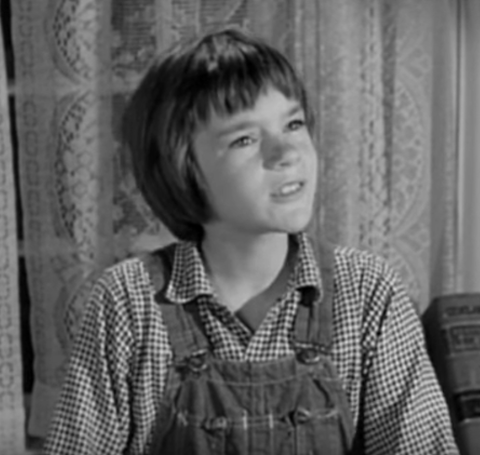 Badham as a kid acting in her role.