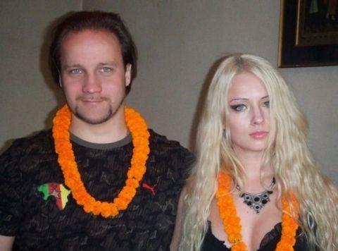 The 27 yeras old Valeria Lukyanova is a married man.