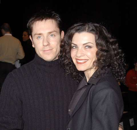 Actor, Ron Eldard standing alongside his ex-girlfriend, Julianna Margulies.