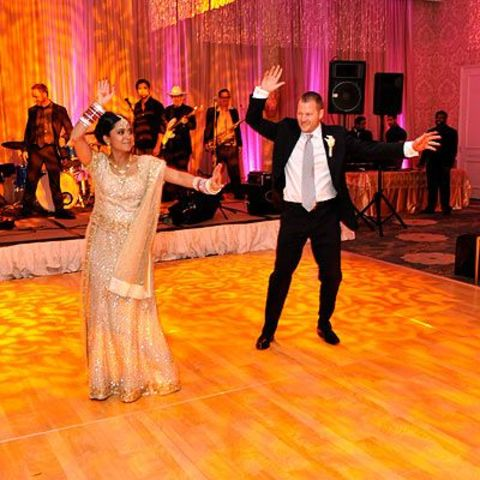 Parminder Nagra and her ex-spouse dancing