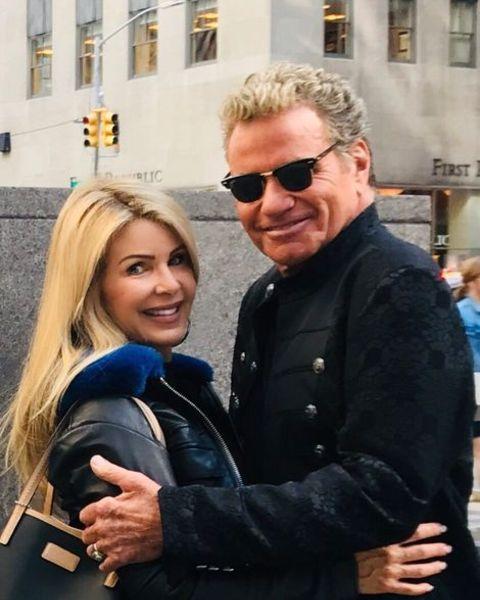 Martin Kove with his girlfriend