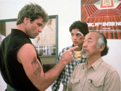 Martin Kove with other actors.