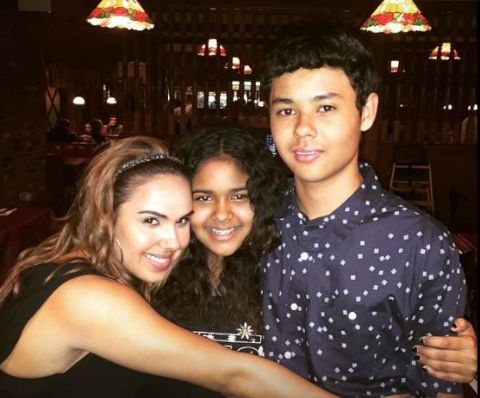 Kristinia DeBarge is living happy life along with her family member.