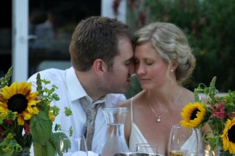 Jessica Magnuson with her husband.