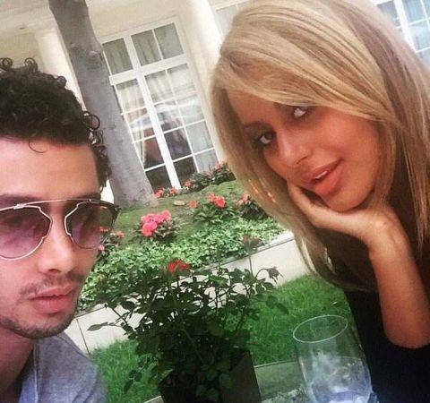 Zahia Dehar with her ex-boyfriend Djanis Bouzyani.