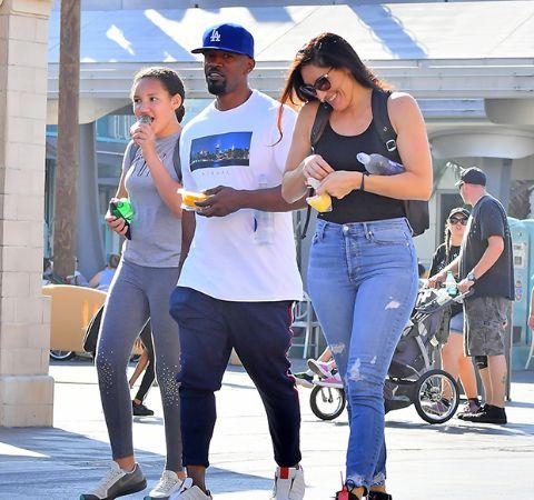 Kristin Grannis with former boyfriend Jamie Foxx and daughter Annalise Bishop.