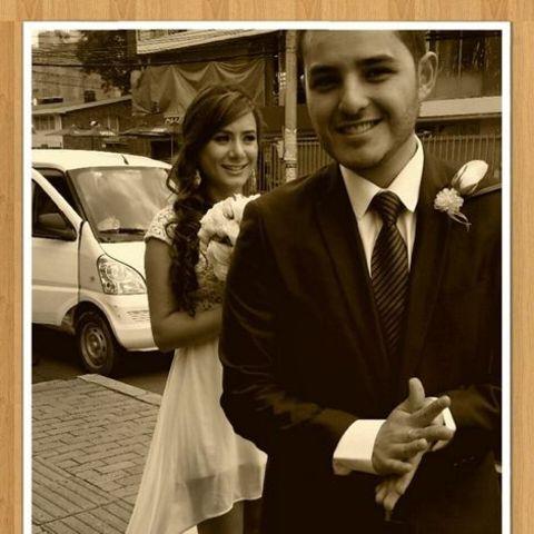 Actress, Johanna Fadul and her husband, Juan Quintero at their wedding.