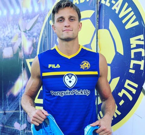 Aaron Schoenfeld in the training kit and boots.