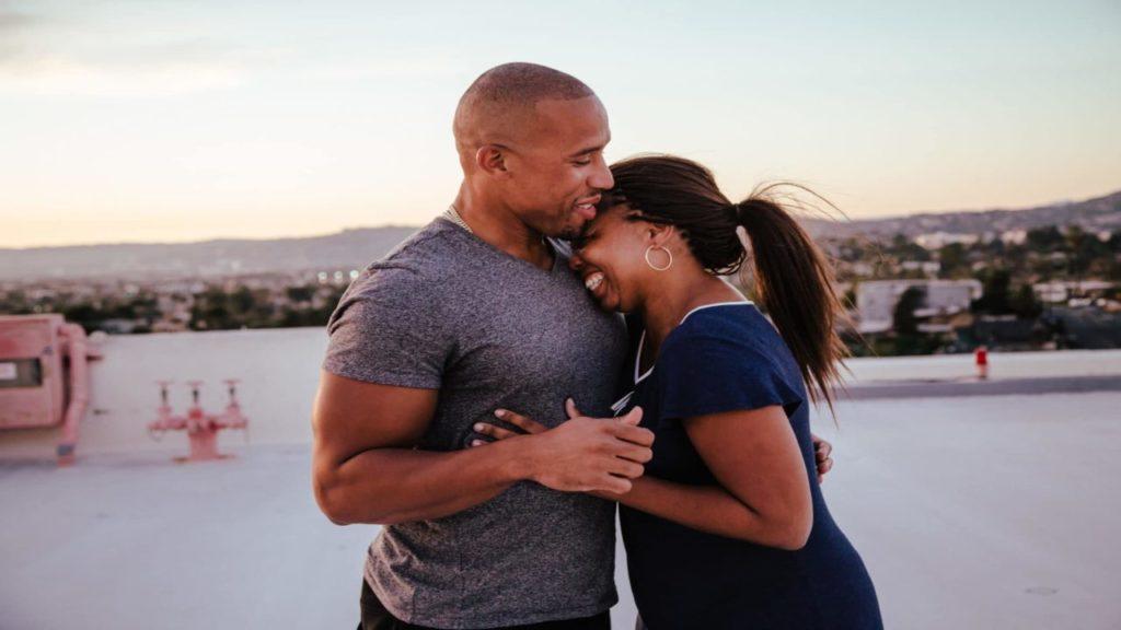 Jemele Hill and her fiance Ian