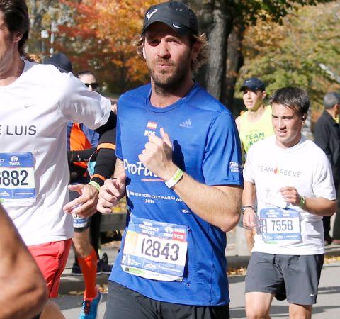 Rosauro Varo Rodriguez running at a marathon.