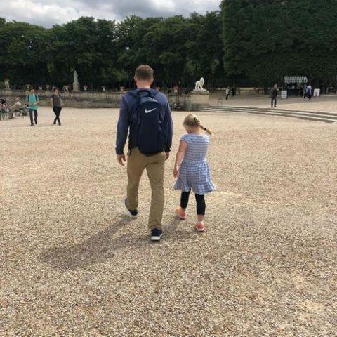 Sarah Bloomquist's boyfriend and daughter.