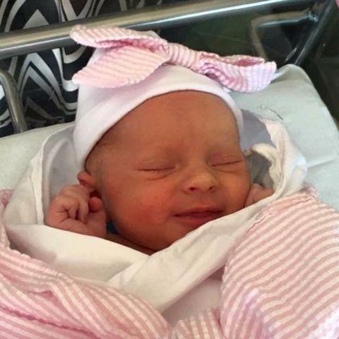 Stephanie Simoni's newly born baby.
