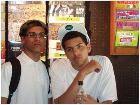 Chris Martinez with his brother Steve during their initial years in New York.