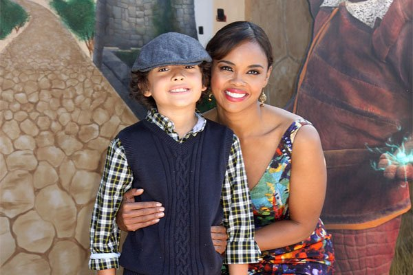 Sharon leal and her son