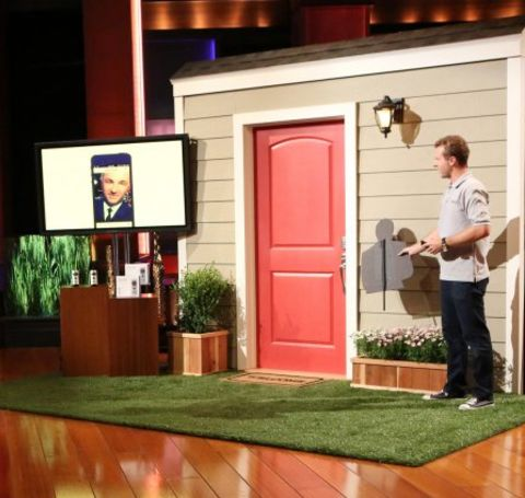 Jamie Siminoff caught on camera while pitching his idea in Shark Tank.
