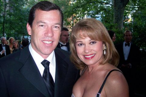Monica Malpass giving a pose along with her ex-fiance, Stephen Thorne.