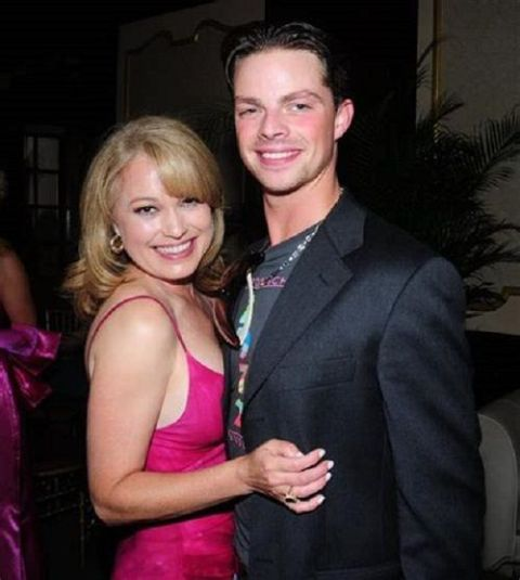 Monica Malpass giving a pose with her former husband, David Culter.