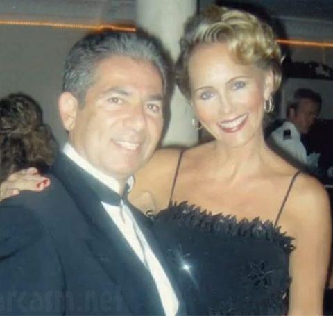 Ellen Pierson in a black dress with beau Robert Kardashian.