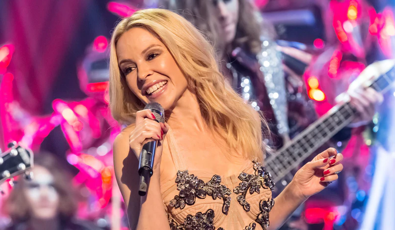 Kylie Minogue Giving A Performance By Singing