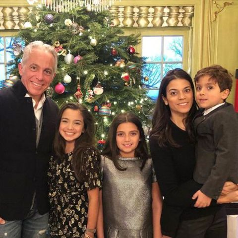 Geoffrey Zakarian giving a pose along with his wife, Margaret, and children Anna, Madeline, and George.
