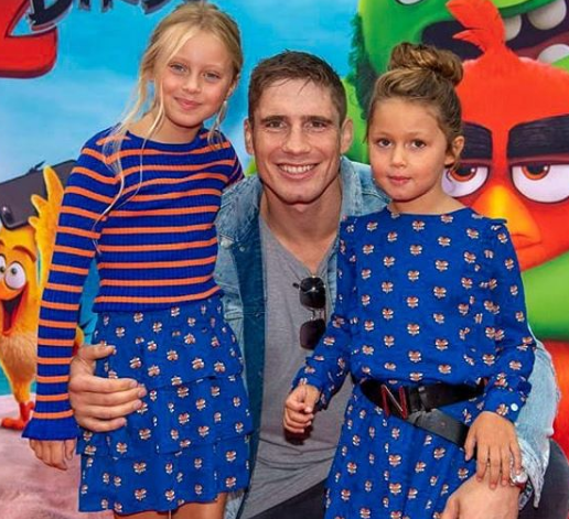 Rico Verhoeven With His Daughter