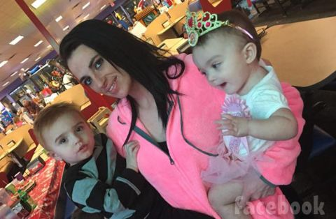 Mellie Stanley with her two kids.