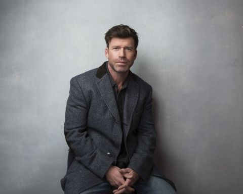 Nicole Muirbrook's husband, Taylor Sheridan during one of his photoshoots.