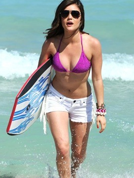 Lucy Hale Showing Her Body
