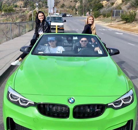 Jonathan Aranbayev and his brother Dylen Aranbayev in their car.