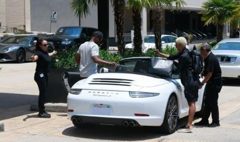 Sonal Chappelle's father, Dave's while Porsche car.