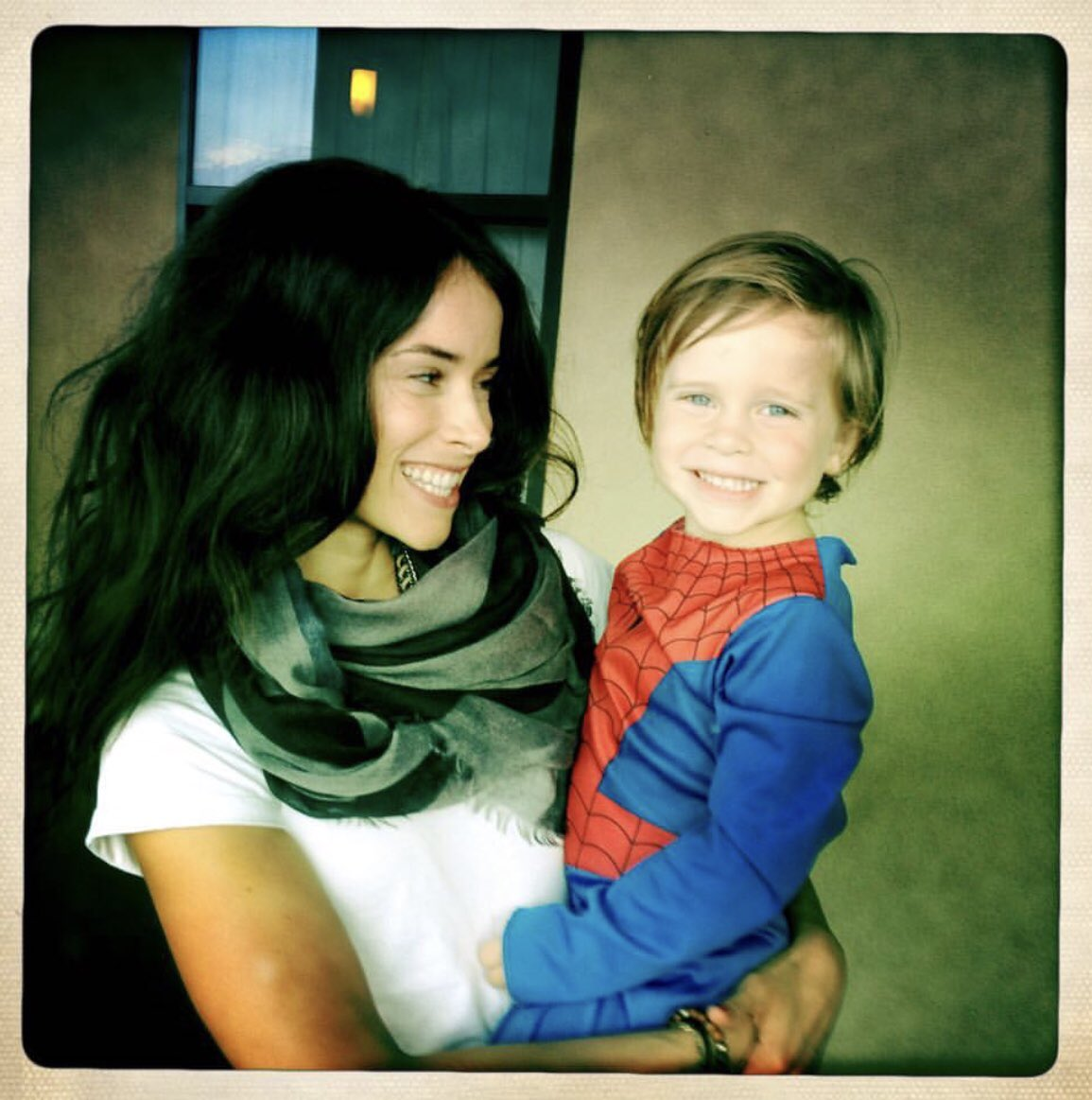 Spencer with her son