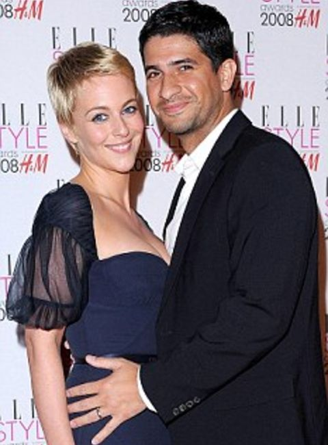 Miranda Raison along with her ex-husband, Raza Jaffrey.