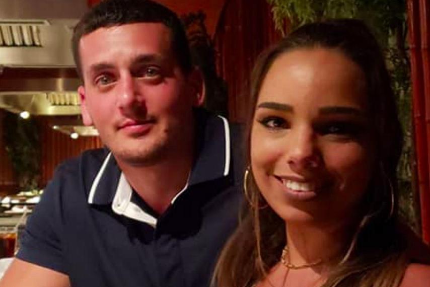Stephanie Parze with her boyfriend Ozbilgen