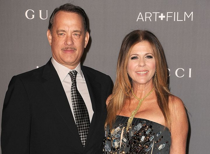 Tom Hanks with his first wife