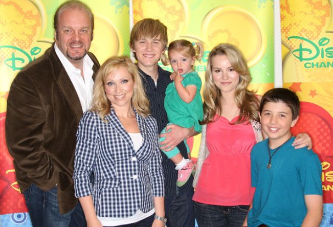 Eric with his on-screen family