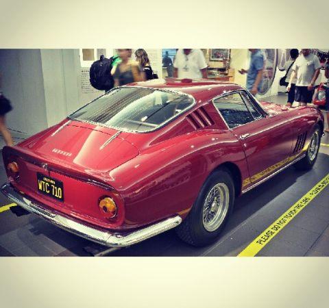 Jonathan Ohye's red Ferrari.