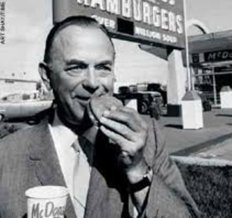 Ethel Fleming's second husband Ray Kroc poses for a picture.