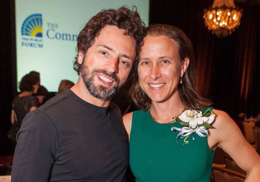 Anne Wojcicki with ex-husband Sergey Brin