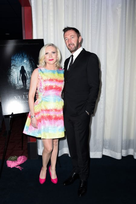 Ralph Ineson giving a pose along with his wife, Ali Ineson.
