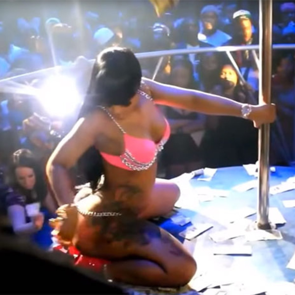 Blac Chyna as a stripper