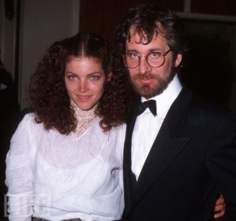 Steven Spielberg in a black tux poses with ex-wife Amy Irving.