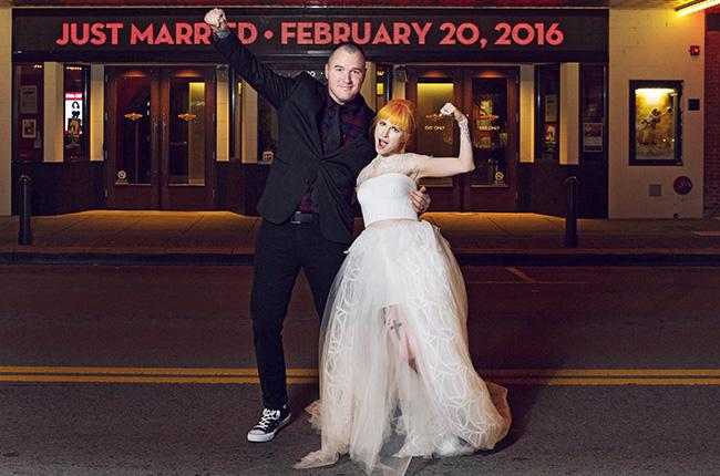 Hayley Williams with ex husband Chad Gilbert