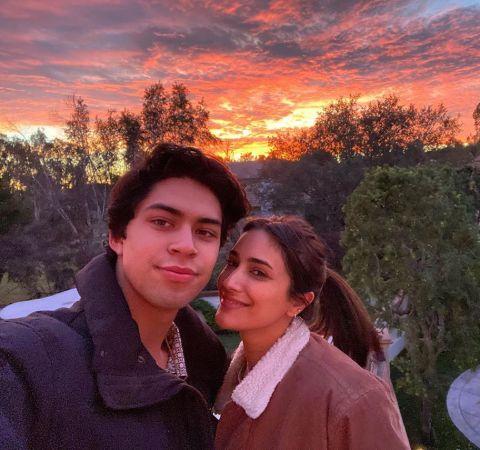 Niko Guardado poses with  girlfriend Rodriguez.