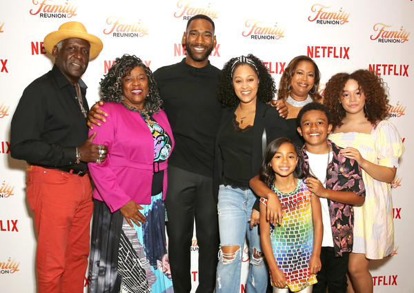 Richard with on-screen family