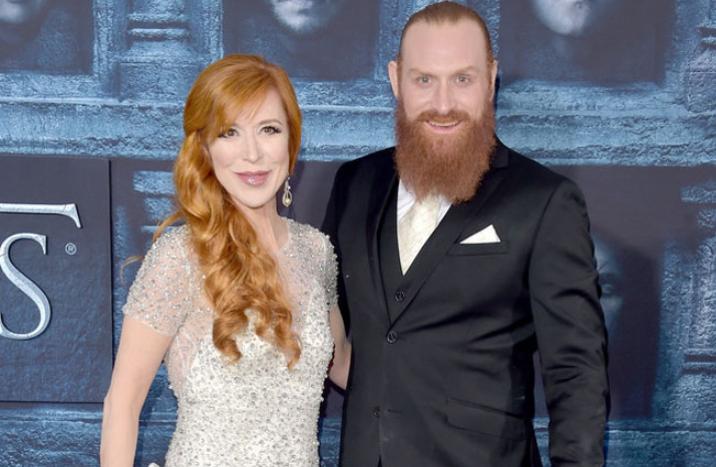 Kristofer Hivju With His Wife
