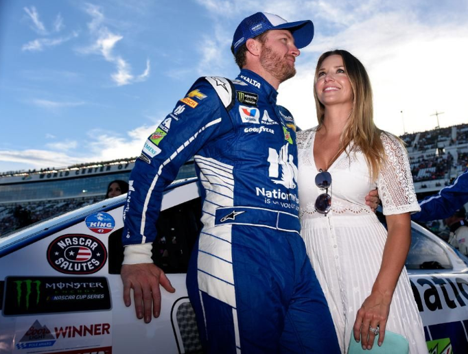 Earnhardt with his wife Amy Reimann