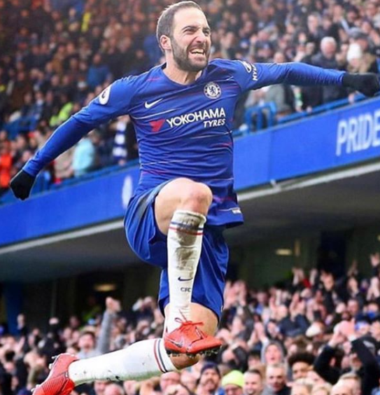 Gonzalo Jumping After A Goal