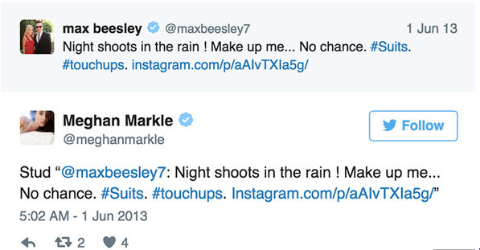 Max Beesley lined up by Meghan Markle.